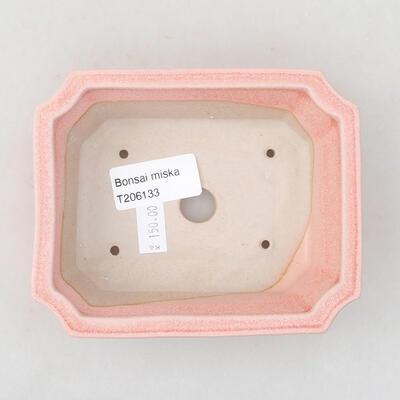 Ceramiczna miska bonsai 12,5 x 10 x 4 cm, kolor różowy - 3