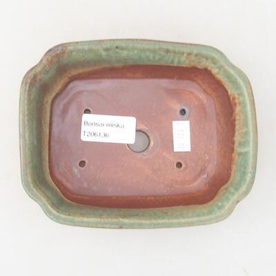 Ceramiczna miska bonsai 15 x 12 x 4 cm, kolor zielony - 3