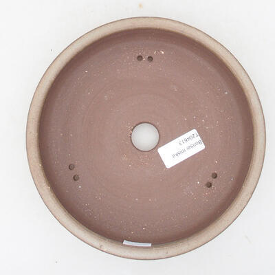 Ceramiczna miska bonsai 18 x 18 x 4,5 cm, kolor brązowy - 3