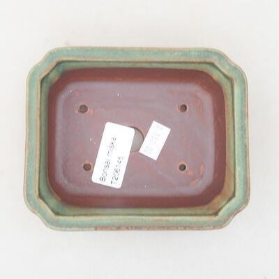 Ceramiczna miska bonsai 12 x 9,5 x 4 cm, kolor zielony - 3