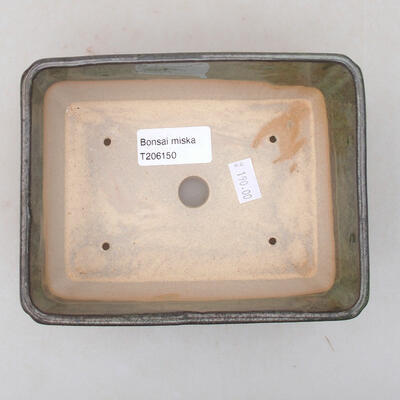 Ceramiczna miska bonsai 15 x 11,5 x 5,5 cm, kolor zielony - 3