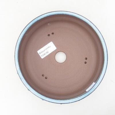 Ceramiczna miska bonsai 17 x 17 x 5,5 cm, kolor niebieski - 3