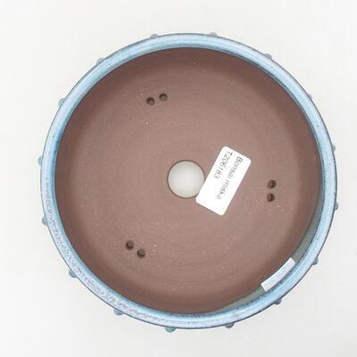 Ceramiczna miska bonsai 15 x 15 x 5,5 cm, kolor niebieski - 3