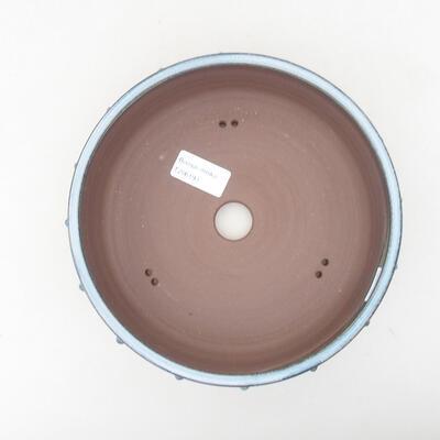 Ceramiczna miska bonsai 19,5 x 19,5 x 6,5 cm, kolor niebieski - 3