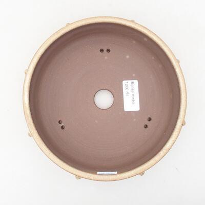 Ceramiczna miska bonsai 18 x 18 x 5,5 cm, kolor beżowy - 3