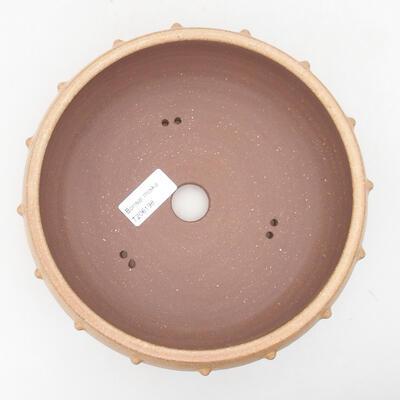Ceramiczna miska bonsai 19,5 x 19,5 x 7 cm, kolor beżowy - 3