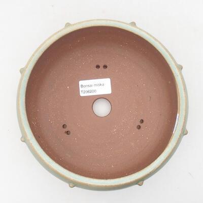 Ceramiczna miska bonsai 17 x 17 x 7 cm, kolor zielony - 3