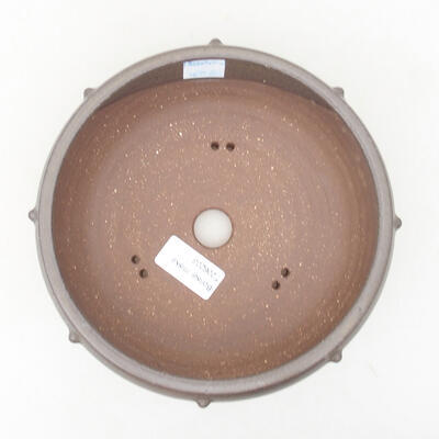 Ceramiczna miska bonsai 17 x 17 x 7 cm, kolor szary - 3