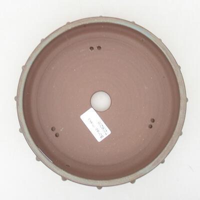 Ceramiczna miska bonsai 18 x 18 x 4,5 cm, kolor szary - 3