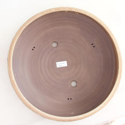 Ceramiczna miska bonsai 36,5 x 36,5 x 9,5 cm, kolor beżowy - 3