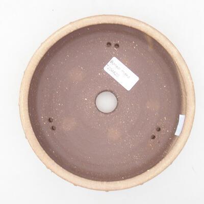 Ceramiczna miska bonsai 17 x 17 x 4,5 cm, kolor beżowy - 3
