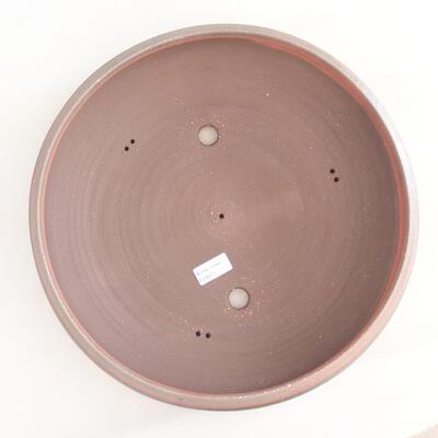 Ceramiczna miska bonsai 37 x 37 x 9 cm, kolor brązowo-zielony - 3