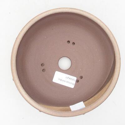 Ceramiczna miska bonsai 16 x 16 x 5,5 cm, kolor brązowy - 3