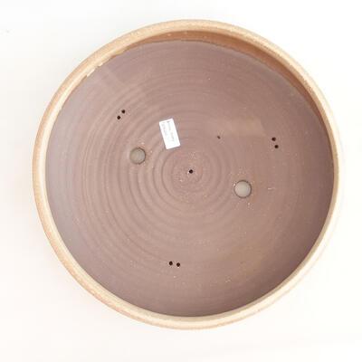 Ceramiczna miska bonsai 37,5 x 37,5 x 9 cm, kolor beżowy - 3
