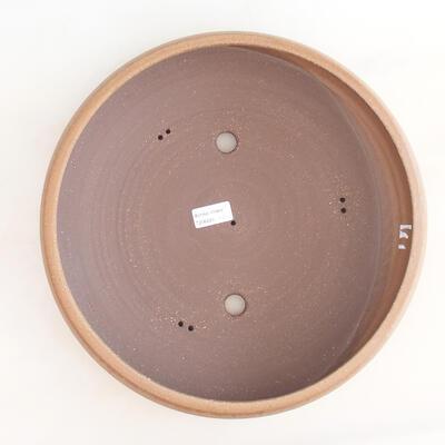 Ceramiczna miska bonsai 34 x 34 x 8,5 cm, kolor brązowy - 3