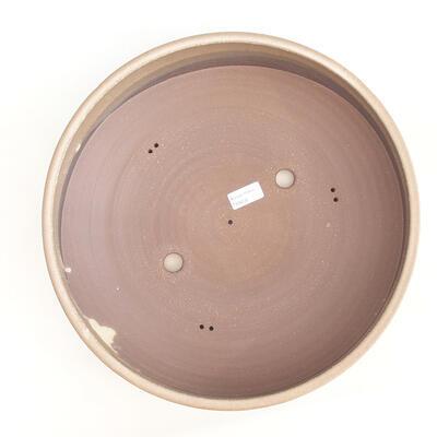 Ceramiczna miska bonsai 37 x 37 x 10 cm, kolor brązowy - 3
