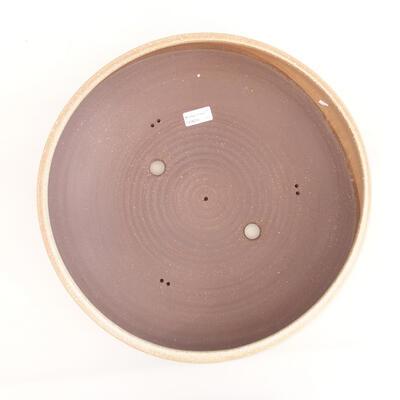 Ceramiczna miska bonsai 39 x 39 x 11 cm, kolor beżowy - 3