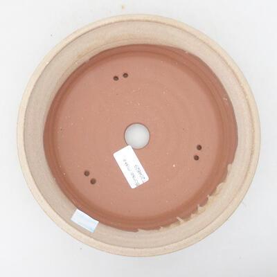 Ceramiczna miska bonsai 20,5 x 20,5 x 5,5 cm, kolor beżowy - 3