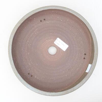 Ceramiczna miska bonsai 22 x 22 x 5 cm, kolor szary - 3
