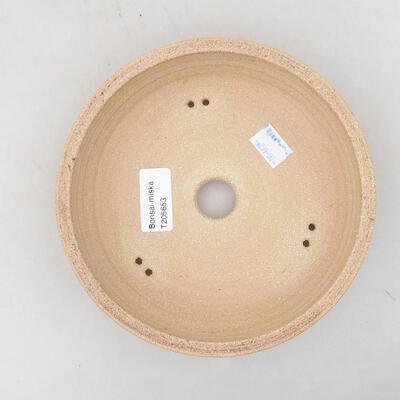 Ceramiczna miska bonsai 21 x 21 x 6 cm, kolor brązowy - 3