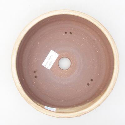Ceramiczna miska bonsai 20 x 20 x 5 cm, kolor beżowy - 3