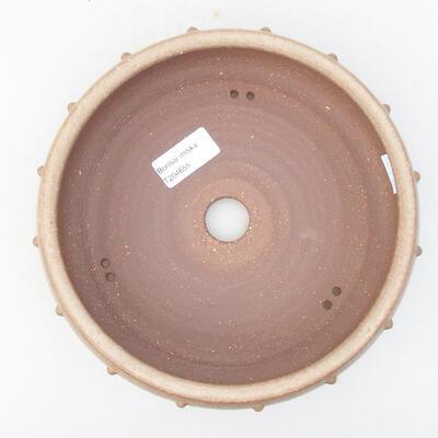 Ceramiczna miska bonsai 19 x 19 x 5,5 cm, kolor beżowy - 3