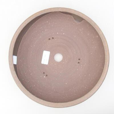 Ceramiczna miska bonsai 26 x 26 x 6 cm, kolor brązowy - 3