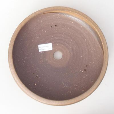 Ceramiczna miska bonsai 24,5 x 24,5 x 6 cm, kolor brązowy - 3