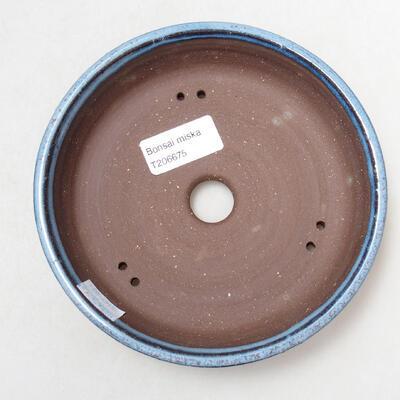 Ceramiczna miska bonsai 15,5 x 15,5 x 4 cm, kolor niebieski - 3