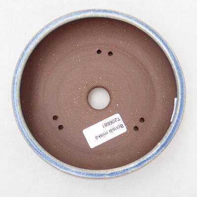 Ceramiczna miska bonsai 14,5 x 14,5 x 5 cm, kolor niebieski - 3