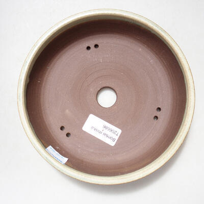 Ceramiczna miska bonsai 17 x 17 x 4 cm, kolor beżowy - 3