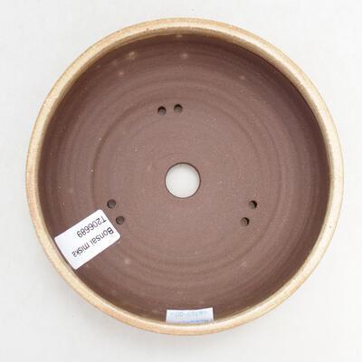 Ceramiczna miska bonsai 15 x 15 x 5 cm, kolor beżowy - 3