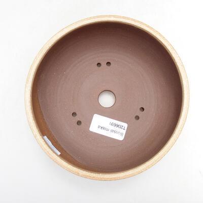 Ceramiczna miska bonsai 14,5 x 14,5 x 6 cm, kolor beżowy - 3