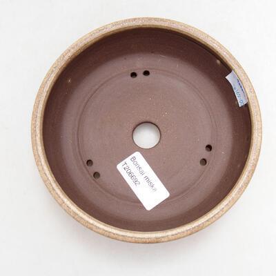 Ceramiczna miska bonsai 14 x 14 x 4 cm, kolor beżowy - 3