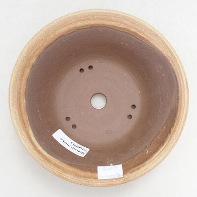 Ceramiczna miska bonsai 16,5 x 16,5 x 6 cm, kolor beżowy - 3