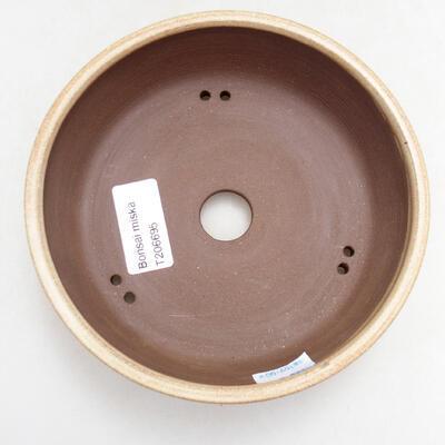 Ceramiczna miska bonsai 14,5 x 14,5 x 4,5 cm, kolor beżowy - 3