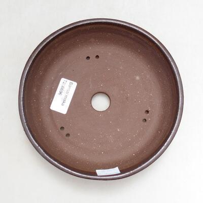Ceramiczna miska bonsai 16,5 x 16,5 x 4 cm, kolor brązowy - 3