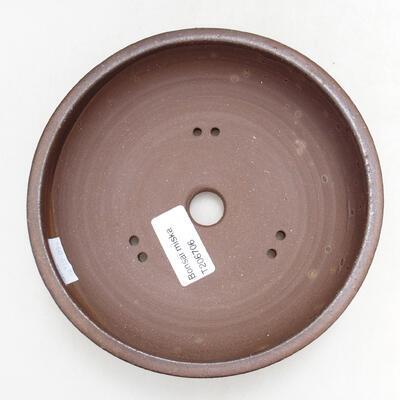 Ceramiczna miska bonsai 15,5 x 15,5 x 4,5 cm, kolor brązowy - 3