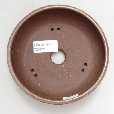 Ceramiczna miska bonsai 13,5 x 13,5 x 4,5 cm, kolor zielony - 3