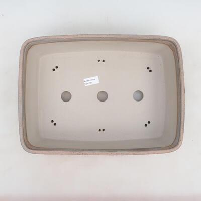Miska Bonsai 38 x 27 x 11 cm, kolor szaro-beżowy - 3
