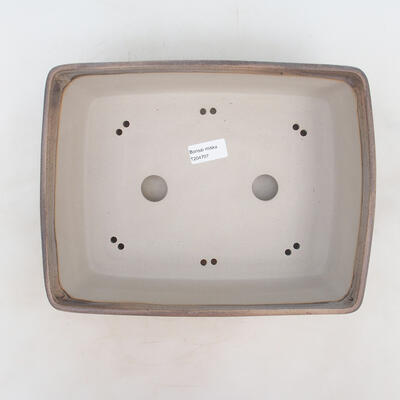 Miska Bonsai 30 x 23 x 9 cm, kolor szaro-beżowy - 3