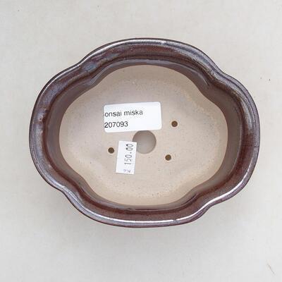 Ceramiczna miska bonsai 13 x 11 x 5,5 cm, kolor brązowy - 3