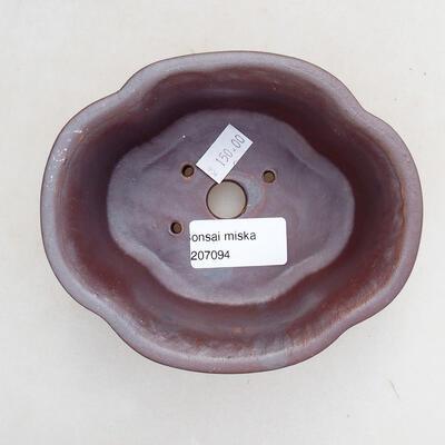 Ceramiczna miska bonsai 13 x 11 x 5,5 cm, kolor metalowy - 3