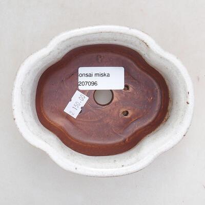 Ceramiczna miska bonsai 13 x 11 x 5,5 cm, kolor biały - 3