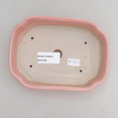 Ceramiczna miska bonsai 15,5 x 11 x 4 cm, kolor różowy - 3