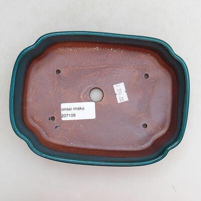 Ceramiczna miska bonsai 17,5 x 13,5 x 4,5 cm, kolor zielony - 3