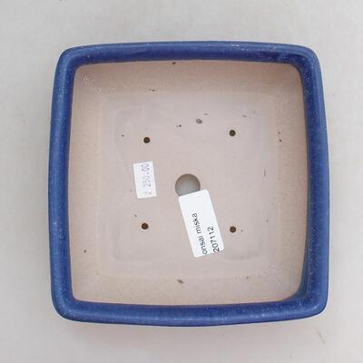 Ceramiczna miska bonsai 15,5 x 15,5 x 5,5 cm, kolor niebieski - 3