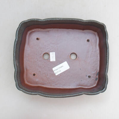 Ceramiczna miska bonsai 20,5 x 17 x 7 cm, kolor szary - 3