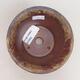 Ceramiczna miska bonsai 11 x 11 x 7 cm, kolor brązowo-zielony - 3/3