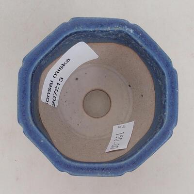 Ceramiczna miska bonsai 7 x 7 x 5,5 cm, kolor niebieski - 3